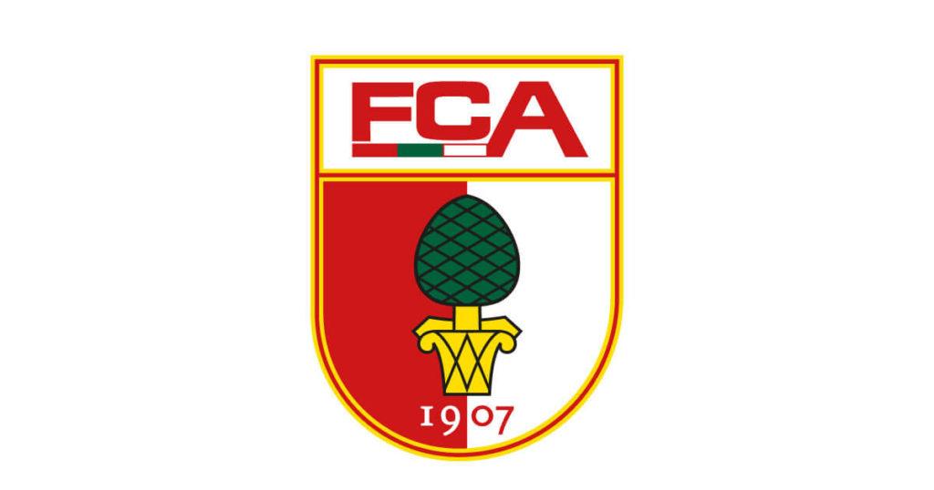 Vereins-Embleme des Sportvereins FC Augsburg im Beitrag der Tobias Rahm Handelsagentur
