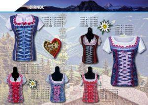 Dirndl 3-D-Kostüm-Shirts katalogübersicht