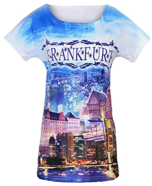 Frankfurt T-Shirt, Souvenir-Shirt von Luna Tex