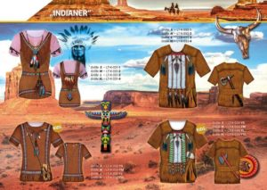 Indianer 3-D-Kostüm-Shirts katalogübersicht