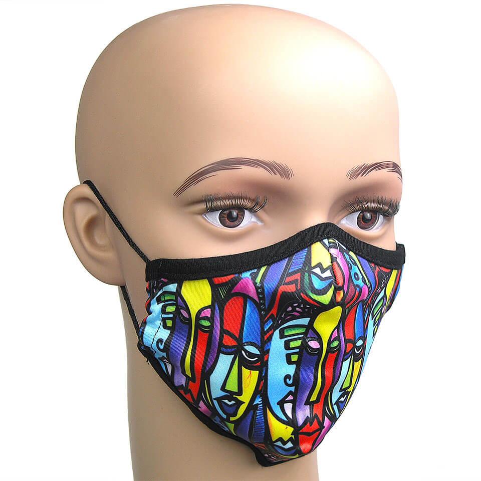 Corona Maske abstraktes Motiv