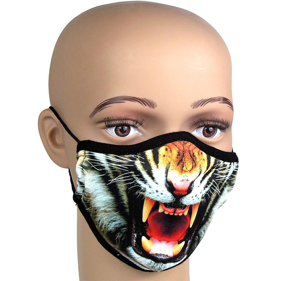 Mundschutz gegen Infektionen, fotorealistischer Druck «Tiger»