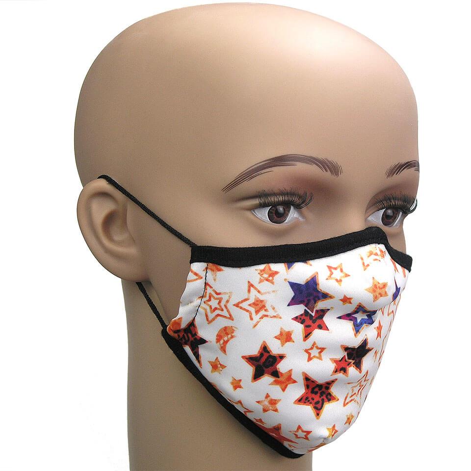 Maske gegen Virusinfektion Motiv Star