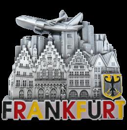 Metallplakette Motiv Frankfurt - souvenir