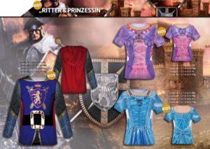 Ritter und Prinzessin 3-D-Kostüm-Shirts katalogübersicht