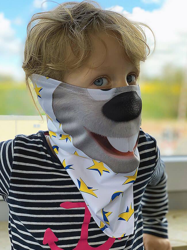 Spitztuchmaske Mund-Naseschutz Corona