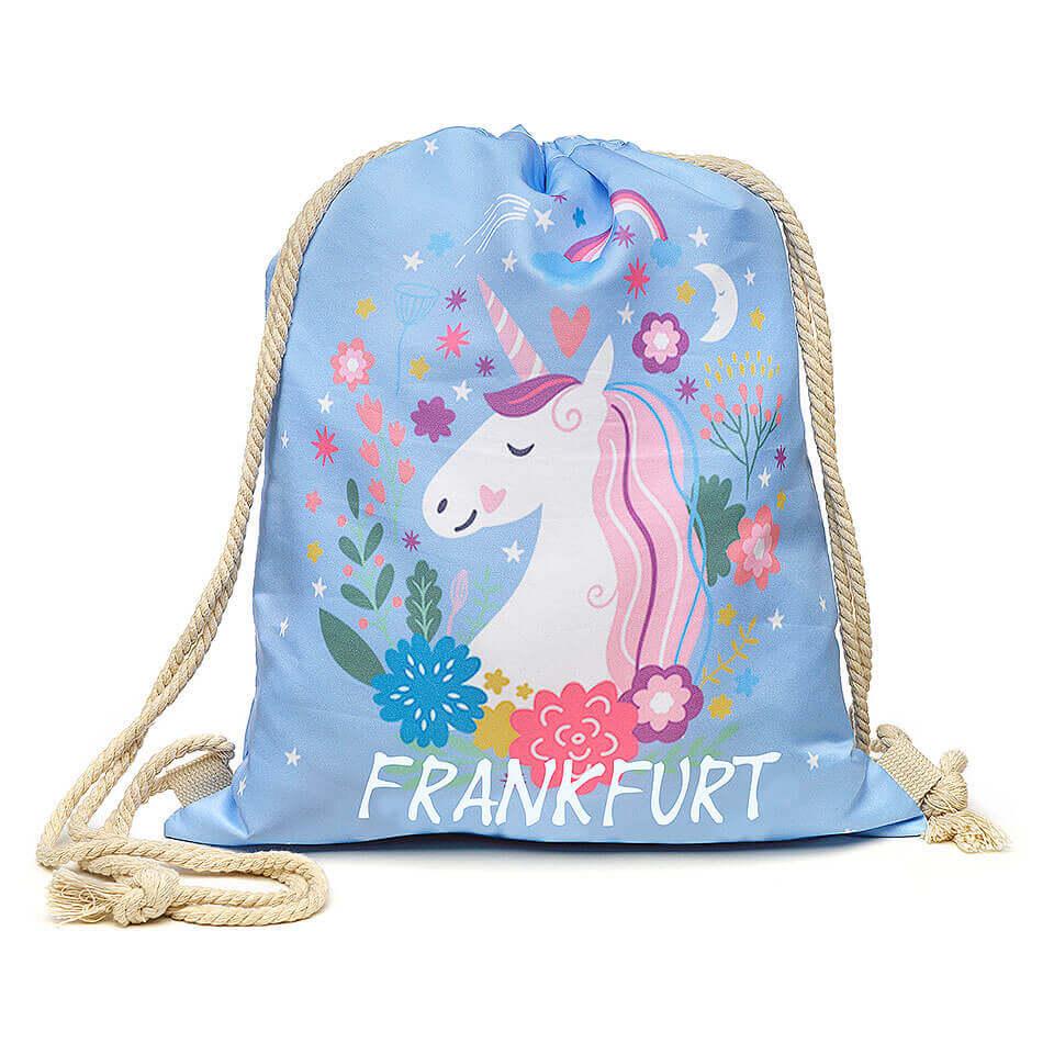 Stofftasche / Stoffbeutel «Unicorn / Einhorn» für Kinder. Praktisch und für alle Gelegenheiten