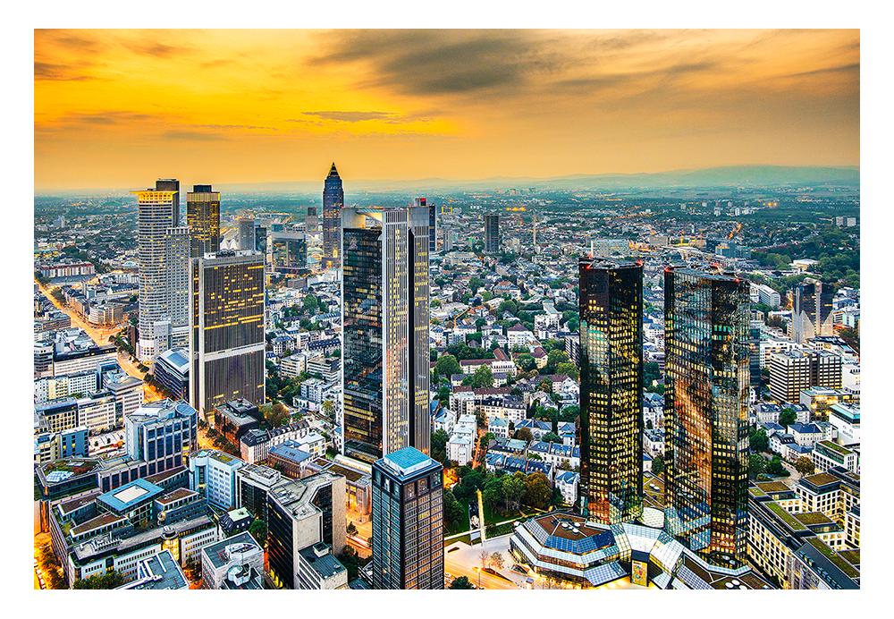 Frankfurt Ansicht der Skyline