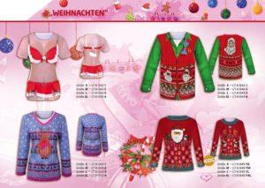 Weihnachten 3-D-Kostüm-Shirts katalogübersicht