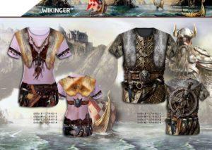 Wikinger 3-D-Kostüm-Shirts katalogübersicht