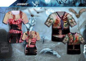 Zombies 3-D-Kostüm-Shirts katalogübersicht