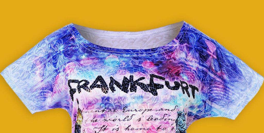 """Themenshirt, Souvenir T-Shirt Motiv """"Frankfurt"""""""