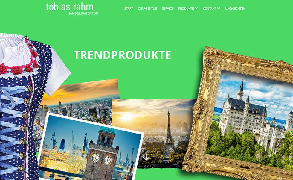 Tobias Rahm Handelsagentur Relaunch der Webseite